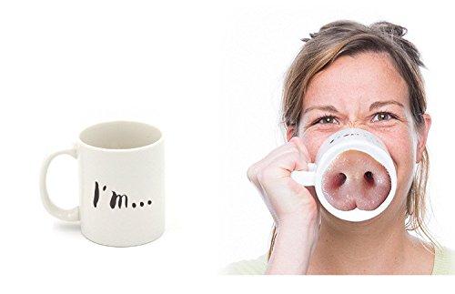 Schwein Nase Schalenbecher personalisierte Kaffee Keramik-Becher Cartoon Schwein Nase Tassen schweine tasse Geschenk für Freuden (Schwein Nase)