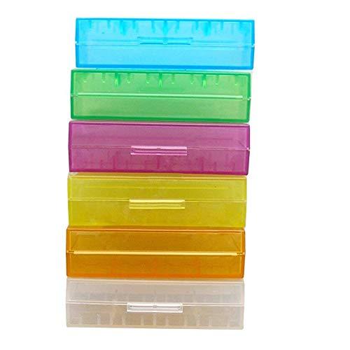 AzuNaisi 18650 Li Ionen Batterien Container Batterie Speicher Fall Organisator Fall Plastik zufällige Farbe 5Stk De Li Container