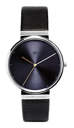 jacob-jensen-dimension-series-mens-quartz-watch-with-blue-dial-analogue-display-and-black-leather-st