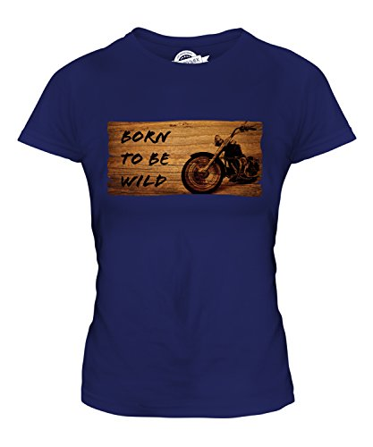 Candymix - Born To Be Wild Motorbike - Ladies Fitted T Shirt Top T-Shirt