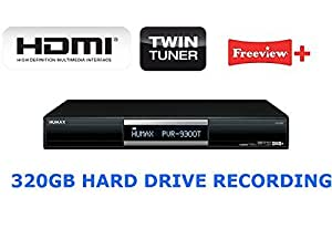Humax PVR-9300T Freeview+ Recorder, 320GB Hard Drive, Twin Tuner HDMI+ REMOTE