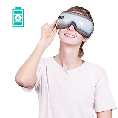 Naipo Augen Massagegerät Elektrisch mit wiederaufladbar Wärmefunktion für Schönheit Entspannung