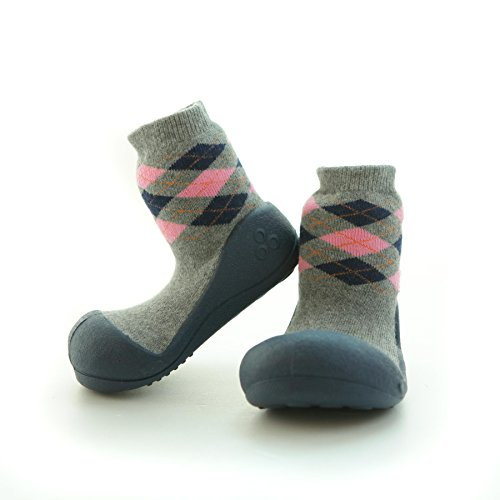 attipas-zapatos premiers Pasos- Argyle Gris