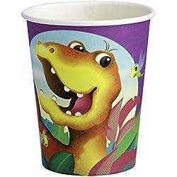 Dinosaurios vasos desechables, 0,2L, 8unidades)