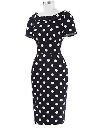 Belle Poque 1950er Style Vintage Kleid Elegant Etuikleid Knielang
