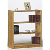 Steens Axel Pine Bookcase with 2-Shelves, Lyed Oil Finish