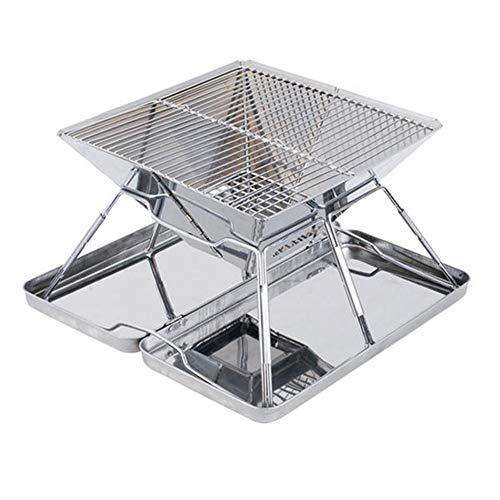 FZQ BBQ Stove Grill Portable Folding Edelstahl Schrumpfstruktur Leicht zu tragen/Einfache Struktur/Leicht zu reinigen für Outdoor Casual Barbecue