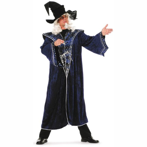 PARTY DISCOUNT NEU Herren-Kostüm Zauberer Sterne, blau Gr. 58-60