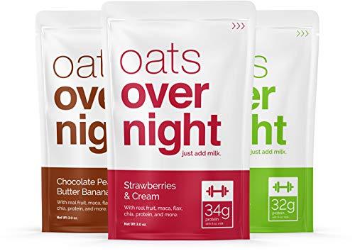 Oats overnight (3oz per confezione) high protein/bassa percentuale di zucchero 24 pacchetto di varietà