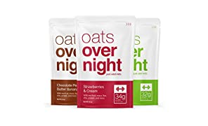 Oats Overnight - Premium High-Protein, Low-Sugar, Gluten-Free (81g per Pack) (12 Pack Variety) …