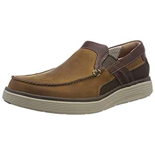 Clarks Men's Un Abode Free Loafers, Brown (Light Tan Leather 7 UK