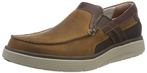 Clarks Herren Un Abode Free Slipper, Braun (Light Tan Lea), 46 EU