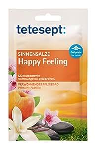 Tetesept Happy Feeling Bath Salt for the Senses [10 Packs of 60 g]