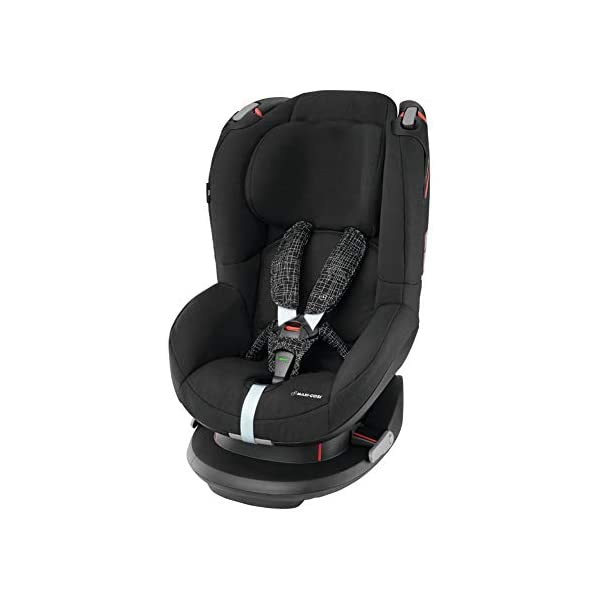 Maxi-Cosi Tobi Toddler Car Seat Group 1, Forward-Facing Reclining Car Seat, 9 Months-4 Years, 9-18 kg, Black Grid Maxi-Cosi Toddler car seat suitable for children from 9 to 18 kg (approximately 9 months to 4 years) Install theMaxi-Cosi Tobi car seatusing the car's seat belt and the integrated belt tensioner ensures a solid fit Spring-loaded, stay open harness to make buckling up your toddler easier as the harness stays out of the way 1