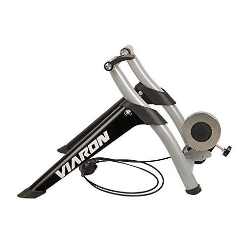 Radfahren Fitness-Studio Bike Trainer Ständer Edelstahl Indoor Trainer W/Magnet Flywheel Noise Reduction Stationäre Übung for Straßen Mountainbikes (Farbe : Schwarz, Größe : Einheitsgröße)