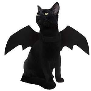 luter fledermaus kost m kleinen hund halloween cat dog costume bat wings pet kost me f r katzen. Black Bedroom Furniture Sets. Home Design Ideas