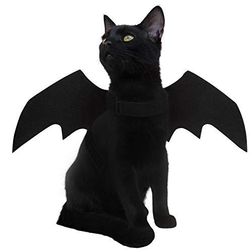 LUTER Perrito Perro Gato Mascota Disfraz Halloween Murcielago Costume Bat Wings para Halloween Fiesta