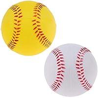 F Fityle Pack de 2 Softbol Balls Pelotas Balón para Entrenamiento de Béisbol Sóftbol para Niños Adultos Estudiantes