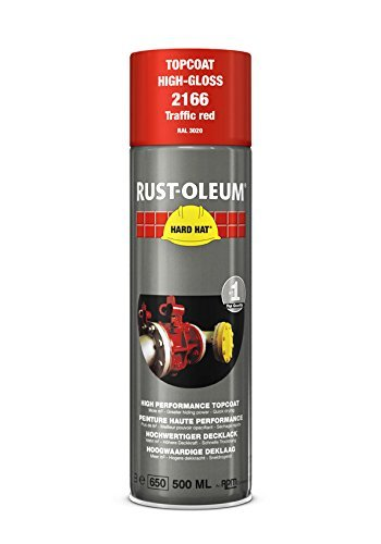 Rust-Oleum Industrial Traffic Red RAL 3020 Hard Hat 2166 Aerosol Spray 500ml (24 Pack)