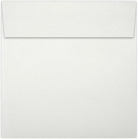 Quadratische Briefumschläge (51/2x 51/2in) (139x 139mm)–(1000Stück.) Natural White 100% Cotton