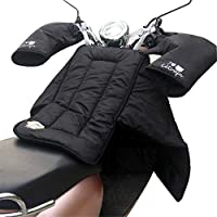 Hete-supply Scooter Leg Cover, Motorbike Windbreak Quilt With Gloves, Leg Lap Apron Cover, Thickened Warm Keeping, Down Cotton, Waterproof Protector Shield For Motorcycle
