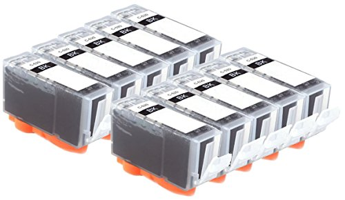 10-black-canon-compatible-printer-ink-cartridges-pgi-520-with-chip-level-announcement-for-canon-pixm