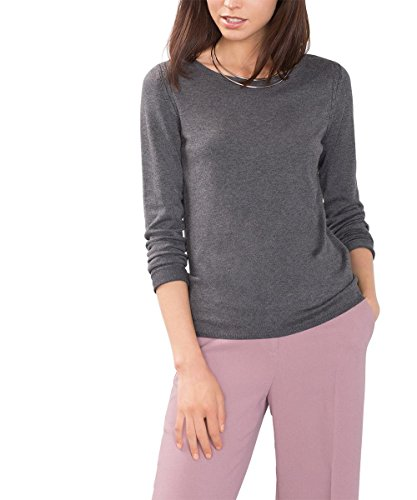 ESPRIT Collection Damen Pullover 996EO1I903 Grau (Gunmetal 5 019), 36 (Herstellergröße: S) Preisvergleich