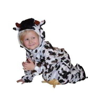 AN32 Taglia 92-98 Costume da Mucca per neonati e bimbi, comodo da indossare sopra gli abiti normali