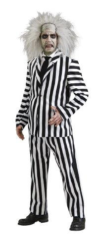 Rubie's Official Beetlejuice Deluxe Costume Adult Fancy Dress Size Standard or XL