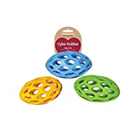 Rosewood Pet Products Cyber Rubber Lattice Rugby Ball