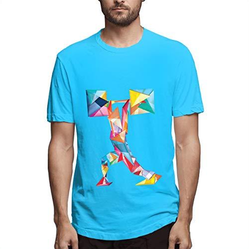 Saubere Ruck Shirts Tee Männer Sport Cool T Shirt T-Shirts für Mens Fashion Casual Spider Baby Blue -