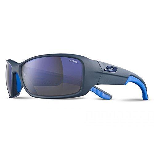 Julbo Run Sonnenbrille Unisex Erwachsene, schwarz matt/blau
