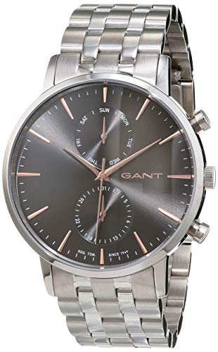 Gant Herren Analog Quarz Smart Watch Armbanduhr mit Edelstahl Armband W11204