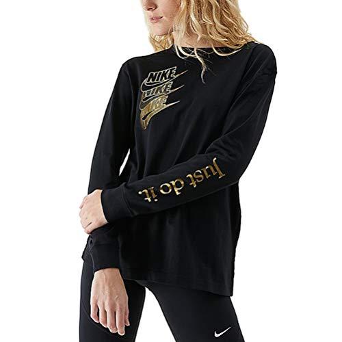 Nike W NSW Top LS Shine Long Sleeve, Damen