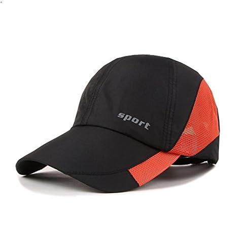 Outdoor Sport Baseball cap Light Weight Breathable Run Hat (Black)