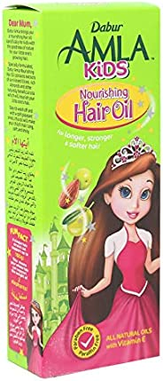 Dabur Amla Kids Hair Oil; Long, strong and soft hair ; Enriched with Amla,Olive, Almond; Natural oils, Vitmain