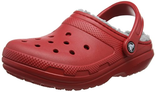 crocs Classic Lined Clog, Unisex - Erwachsene Clogs, Rot (Pepper/Silver), 39/40 EU