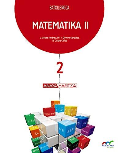 Matematika II. (Hazi eta hezi bat eginik) - 9788469832394 por José Colera Jiménez