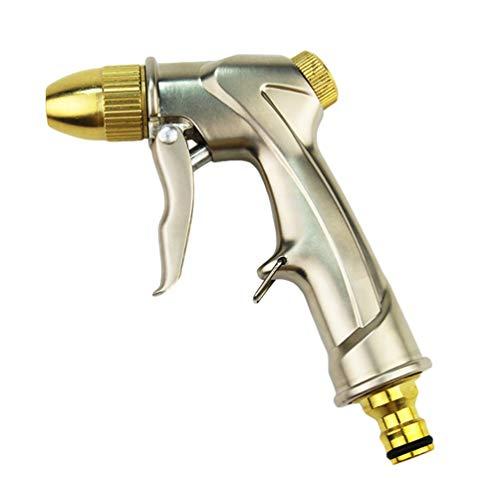 Kuncg Pistola da Giardino il Metallo per l'irrigazione Pistola Spray Regolabile Spruzzatore Manuale per Irrigazione Prato Lavaggio Auto Pet Balneazione Pulizia M