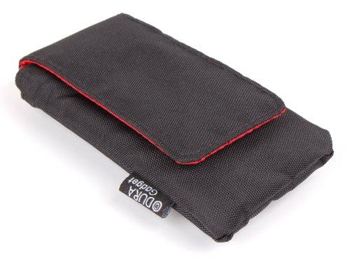 DURAGADGET Robuste Schutz-Hülle mit Klettverschluss + Gürtelschlaufe. SCHWARZ. Für Ticwatch E Shadow Activity-Tracker Smartwatch und Famstore Slim Touch Fitness-Armband -