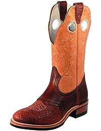 Botas de los EE.UU.-Botas western super ropers BO-3131-45-C (pie normal), diseño de mujer, color marrón claro y oscuro