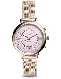 Fossil Hybrid Smartwatch - Q Jacqueline Pastel Pink Stainless Steel (FTW5025)