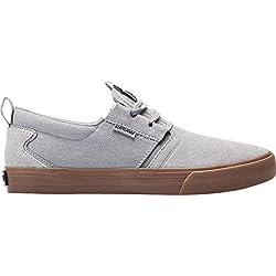 Pisahuevos Supra Mens Flow Grey Dark Grey Gum Skate Shoes
