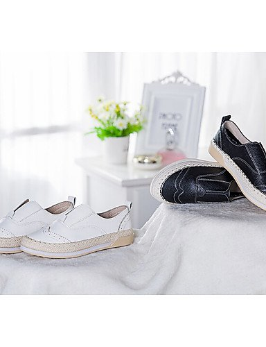 ZQ gyht Scarpe Donna Di pelle Piatto Punta arrotondata Mocassini Casual Nero/Bianco , white-us8.5 / eu39 / uk6.5 / cn40 , white-us8.5 / eu39 / uk6.5 / cn40 black-us6 / eu36 / uk4 / cn36