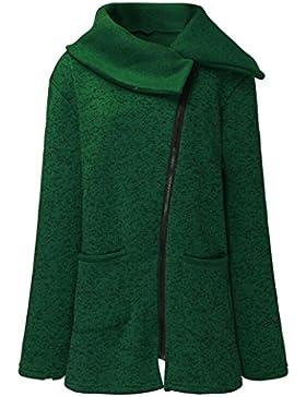 Escudo, abrigo,Internet Abrigo de chaqueta casual de mujer Sudadera con cremallera larga Outwear Tops