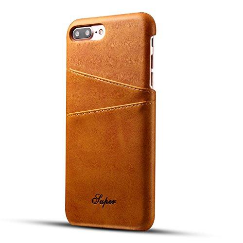 iessvi iPhone 7Plus 8Plus Wallet Case Slim PU Leder Rückseite Case Cover Hülle mit Kreditkarte Halter Wallet Phone Case, für Damen und Herren, 4 - Wallet 4 Dass Fall, Iphone Männer