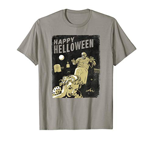 Retro Zombie T-Shirt Happy Helloween Band Halloween Mumie It (Der T-shirts Band Zombie)