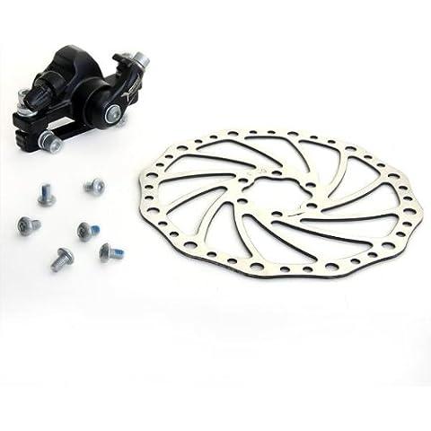 DBK-04 Freno Delantero de Disco Mecánico Metal Color Negro para Bicicleta MTB
