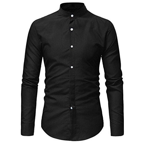 Oliviavan,camicia a maniche lunghe casual da uomo con bottoni in puro cotone top in cotone a maniche lunghe a forma di