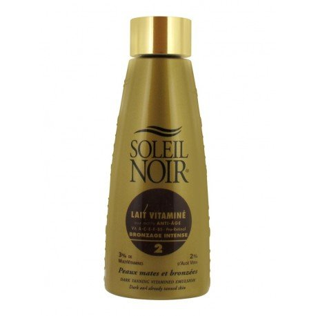 Soleil Noir Lait Vitaminé Bronzage Intense SPF 2 150 ml